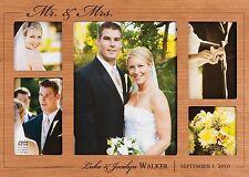 "Personalized Laser Engraved Mr. & Mrs. Cherry Photo Frame - 18"" x 12½"" Wedding"