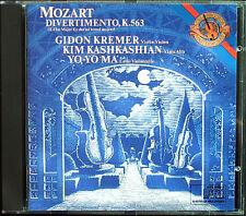 Gidon KREMER Kim KASHKASHIAN Yo-Yo MA: MOZART Divertimento K.563 CBS USA CD 1985