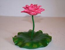 18cm FLOATING RED LOTUS FLOWER - GARDEN ORNAMENT - POND GIFT - ASIAN FLOWER