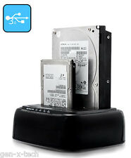 USB 3.0 Dual 2.5-3.5 SATA Hard Disk / SSD Dock: Drive Copy - Clone Function