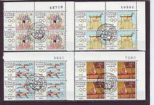 CYPRUS - SG635-638 CTO/NH 1984 BLOCKS OF 4 - OLYMPIC GAMES LOS ANGELES