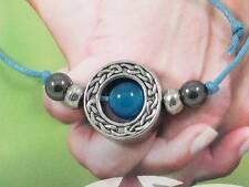 AM BYTH - forever friends Blue Onyx Gemstone & pewter beads handmade bracelet