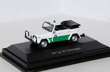 --  SCHUCO  -  VW Typ 181 Kübelwagen  --   Polizei  -  26056  -  1:87  -  Neu