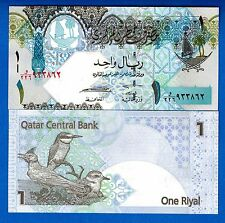 Qatar P-28 1 Riyal ND Year 2008 Birds Uncirculated Banknote Asia