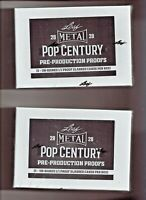 2020  Leaf Metal Pop Century Pre-Production 3 1/1 PROOF Slabbed Cards Sealed Box