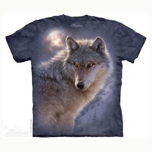 Mountain Adult T-shirt Adventure Wolf