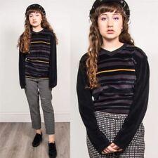 Cotton Blend V-Neck Long Sleeve Tops & Shirts for Women