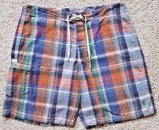 POLO Ralph LAUREN Checked BOARD Shorts 35 MULTICOLOR Tartan MADRAS Cotton BLEND*