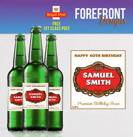 Personalised Beer/Lager Spoof bottle labels - Perfect Birthday/Anniversary Gift