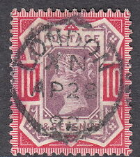 SG210 10d Dull Purple & Carmine Upright & Central London April 28th 1892 CDS