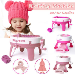 22/40 Needle DIY Hand Knitting Machine Weaving Loom Scraf Hat Kid Sweater Toys