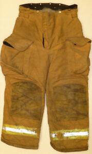 36R Pants Firefighter Turnout Bunker Fire Gear w Liner Janesville Lion P824