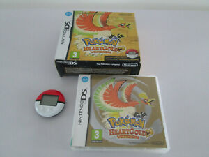 POKEMON HEARTGOLD VERSION NINTENDO DS WITH POKEWALKER BOXED MANUAL NO GAME