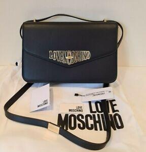 Love Moschino Authentic medium sized Black cross body shoulder Bag JC4048PP18LF