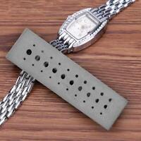 30 Holes Stainless Steel Riveting Stake Punch Block Watch Jewelers Repair Tool