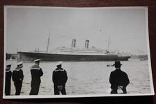 HOLLAND AMERICA LINE SS NIEUW AMSTERDAM FINE UNPUBLISHED REAL PHOTO POSTCARD