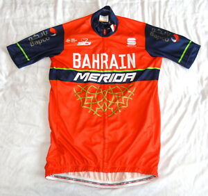 """EXCELLENT COND BAHRAIN MERIDA PRO TEAM JERSEY. SPORTFUL LARGE 38"""" CIRCUMFERENCE"""