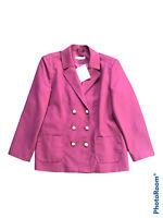 BNWT JULIPA Double Breasted Blazer Jacket Cranberry UK 14
