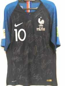 Jersey France Final World Cup 2018 #10 Mbappe - Autographed by all the Players