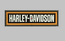 "Vintage Harley Davidson embroidered rectangular patch Sew On 4.40"" wide"