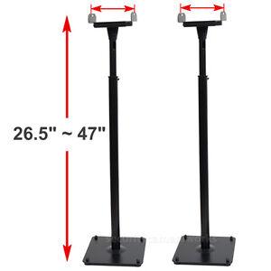 2 Surround Sound Bookshelf Floor Speaker Stands Side Clamp Heavy Duty Mounts BJR