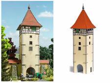 Busch 1596 Torturm Stadttor Stadtturm Stadtmauerturm Bausatz H0 Neu
