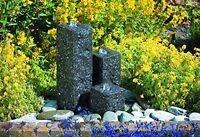 Ubbink Gartenbrunnen Wasserspiel Modena mit Pumpe Springbrunnen Granitsäulen