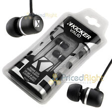 Kicker Earbuds Noise Isolation Headphones Comply Memory Foam Tips EB102B Black