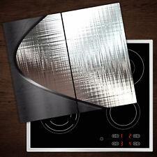 Glas-Herdabdeckplatte Ceranfeldabdeckung Zweiteilig 2x30x52 Wassertropfen