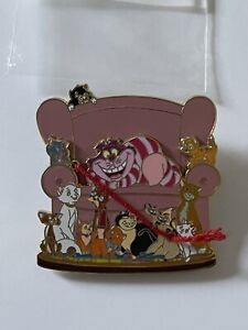 Disney Cats on a Chair - Cheshire Cat, Aristocats, Figaro, Lucifer, Si & Am Pin