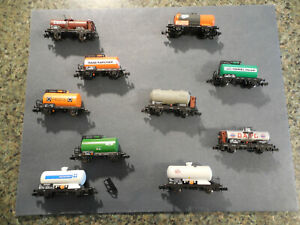 N-Scale Model Train-Arnold 10 car lot of mixed tank cars
