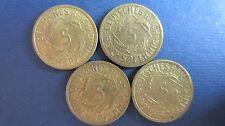 Weimarer Republik 5 Reichspfennig 1925 A+D, 1926 A, 1935 A in vz J. 316 (H82)