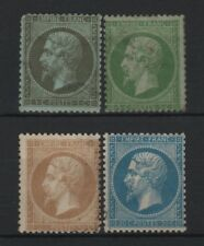 """FRANCE STAMP YVERT 19 / 22 """" NAPOLEON III 4 TIMBRES DENTELES """" NEUFS A VOIR T027"""