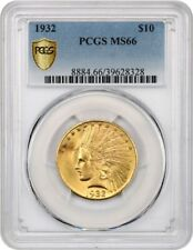 1932 $10 PCGS MS66 - Indian Eagle - Gold Coin - Gorgeous!