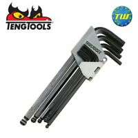Teng Tools 9pc Ball Point Allen Hex Key Set Imperial 5/64-3/8in 1479AF