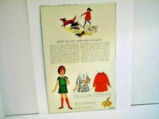 Vintage Betsy McCall Goes Dog-Walking Paper Doll Page 1964 Issue Uncut