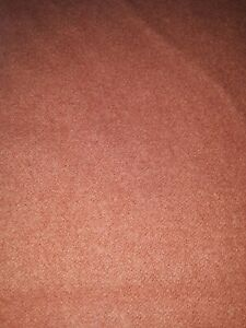 """Vintage Warm Pink/Brown All Wool Throw Cot Single Bed Blanket 56""""x 82"""" No Tags"""