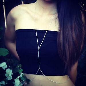 SALE! Gypsy Style Tiny Turquoise Stone, Sterling Silver BODY Chain, Bikini Chain