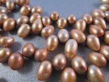Freshwater Bronze Teardrops Pearl Beads 60pcs