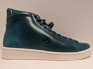 Converse Horween Pro Leather Hi Lyons Blue Sea Moss Green Egret Size 8.5 168751C