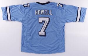 Sam Howell Signed North Carolina Tar Heels Jersey (Beckett Holo) 2021 Junior QB