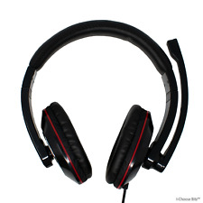 USB Headset with Microphone / PC Computer Headphones with Mic / Gaming Skype