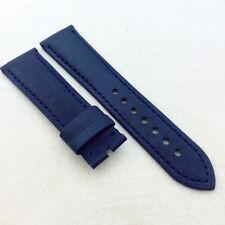 23 mm 120/80 mm Black Blue Carbon Fibre Calf Leather Strap For BP JB Blan cpain