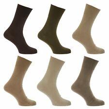 1 Pair Mens Plain Coloured 99% Cotton STAY-UP Diabetic Friendly Socks, Size 6-11