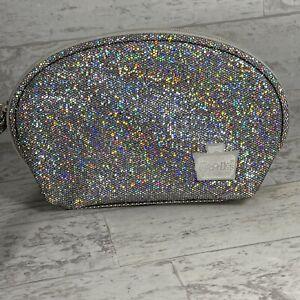 Silver Glitter Caboodles Makeup Storage Case Sparkle Mini Bag Travel Cute