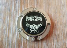 MCM Hook Hanger For Handbags Purses Black And Silver Used