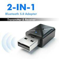 2in1 USB Wireless bluetooth 5.0 Stereo Audio Music Transmitter Adapter For TV PC