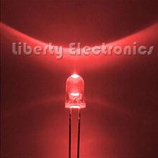 100 pcs. LEDS SUPER BRIGHT ROUND RED 5mm