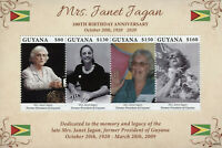 Guyana Famous People Stamps 2020 MNH Janet Fagan Politicians Presidents 4v M/S