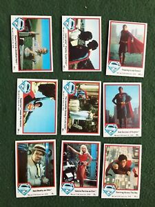 Lot of 9 Superman the Movie Trading cards Topps DC Comics lot #6